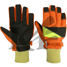 Short Fire Fighter Gloves Leather Protective Gloves Waterproof Gloves
