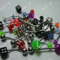 10pcs Labret Lip Belly Tongue Eyebrow Bar Rings Body Piercing Jewelry Wholesale