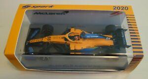 Spark 1/43 Carlos Sainz McLaren MCL35 F1 Austrian GP 2020 Formula 1 (S6470)