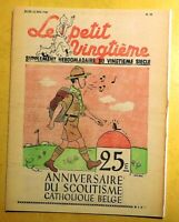 Tintin. Carte postale. LE PETIT VINGTIÈME 19 du 12 MAI 1938 - SCOUTISME