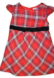 Baby Girl Old Navy Shimmer Red Plaid Dress Sizes 0-3, 3-6, 6-12, 12-18, 18-24M