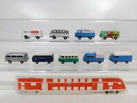 CA369-0,5# 9x Brekina 1:87/H0 Bus/Transporter VW/Volkswagen: T1 + T2, NEUW