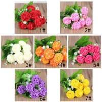 Flower Bouquet Artificial Hydrangea Flower Wedding Party Birthday Home DIY Decor