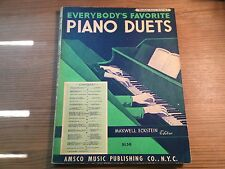 Everybody's Favorite Piano Duets Series, No. 7 (1934-paperback ) By Maxwell Ecks