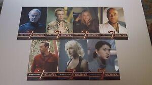 2008 Battlestar Galactica Season 3 SIGNIFICANT SEVEN Complete 7 Card Chase Set