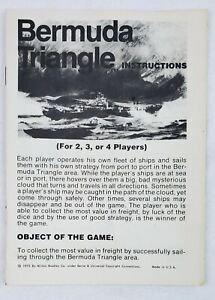 Vintage Bermuda Triangle Board Game 1975 Instruction Rules Replacement Parts