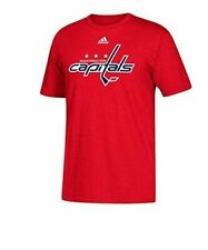 WASHINGTON CAPITALS MEN'S ADIDAS RED PRIMARY LOGO T-SHIRT SIZE 2XL