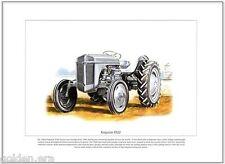 Ferguson TE20 Traktor - Kunstdruck - klassisch wenig grau Fergie Illustration
