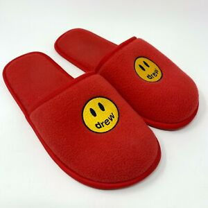Drew House Mascot Slippers Red L/XL Justin Bieber 100% AUTHENTIC w/Bag