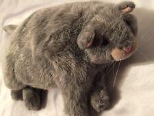 "VINTAGE Lifelike Dakin Applause 14"" Duchess Pampered Plush Stuffed Grey Cat"
