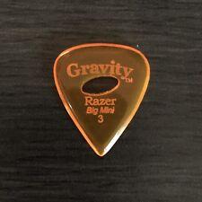 GRAVITY PICKS RAZER Big Mini Boutique Guitar Pick 3mm with Elipse Grip Hole