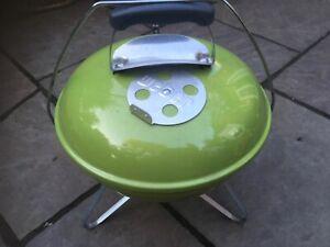 WEBERSMOKEY JOE spring green portable charcoal BBQ perfect for picnic & camping