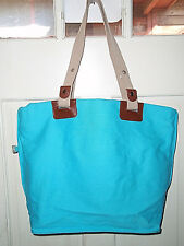 Tote bag Sun & Sand tourquoise large 15X20in. zipper close NWT free shipping