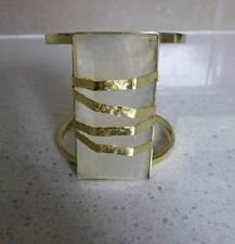 """BNWT SASS & BIDE   """"Like Heaven"""" Brass Crystal Cuff  Bracelet - Med / Lge - $295"""