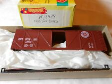 HO TRAIN ROUNDHOUSE 40' WOOD BOXCAR KIT SEABOARD #18439 MINT!