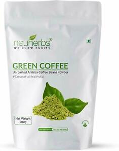 Neuherbs Organic Unroasted Arabica Green Coffee Beans Powder For Weight Loss F/S