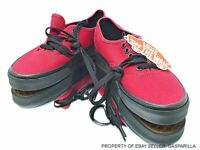 VANS Authentic Black Sole Jester Red VN0003Z3HXP Skate Shoes Mens/Wwn Multi-SZ