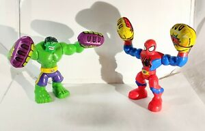 "KAPOW HULK vs Spider-Man Hasbro Marvel Disney Talking 10"" Toy Figure Plush 2013"