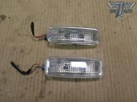 05-13 AUDI A4 A3 SET OF 2 FRONT LEFT & RIGHT SUN VISOR DOME LIGHT LAMP OEM