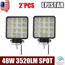 2X 48W LED Work Light Spot Beam Off road Driving Fog Lights Mining UTE ATV nem