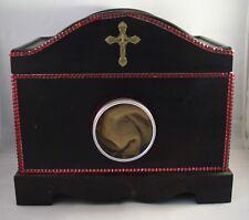 Dark Wood Reliquary Display and Storage Box