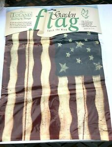 Toland Garden Flag 11x14 Americana Flag, USA, New in package