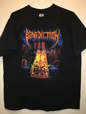 BENEDICTION 'Grotesque-Ashen Epitaph US Tour 94' Rare Vintage T-Shirt US