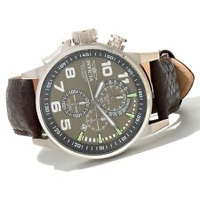 Invicta Mens 46mm I Force 13054 Army Quartz Chrono Lefty Leather Strap Watch,New