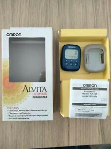 Omron Alvita HJ-325-ZB Blue Alvita Ultimate Pedometer Step Counter OPEN BOX