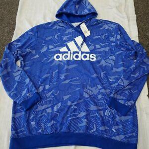 Adidas men's 4X hoodie NWT blue sweatshirt