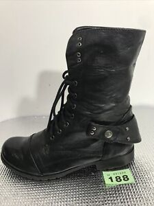LADIES UNKNOWN BRAND LEATHER LOW HEEL PULL UP ZIP UP ANKLE BOOTS SIZE 40 Uk 7