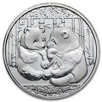 CHINA PANDA - 999 SILBER - SILBERBARREN - PP / PROOF - SILBERMÜNZE