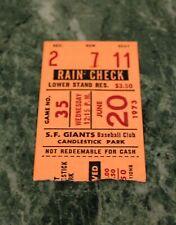 Cincinnati Reds v San Francisco Giants ticket stub 6/19/1973 Bonds Perez HR