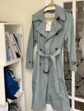 comptoir des cotonniers Timeless Trench Coat In Silvergreen, Size 36 Fr (8-10Uk)
