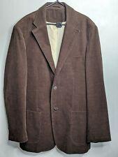 "XL Brown Corduroy Blazer Tailored 46"" Steampunk Outdoor Christmas Long Tall..."