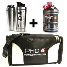 PhD Nutrition Gym Bag + Stainless Steel Protein Shaker + 1.5L Water Bottle Jug