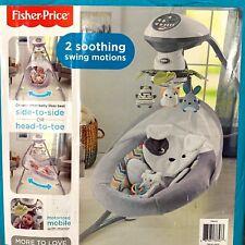 Fisher-Price Sweet Snugapuppy Dreams Soothing Baby Infant Cradle 'n Swing Drg43