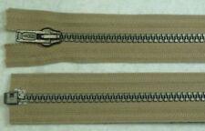 Opti  Reißverschluss teilbar Dekorzacken 80 cm beige