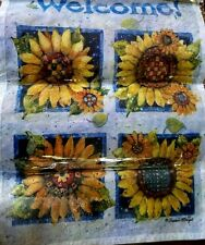 "Garden Flag ~ ""Welcome Sunflowers"" ~ 12.5"" x 18"" ~ New in Package"