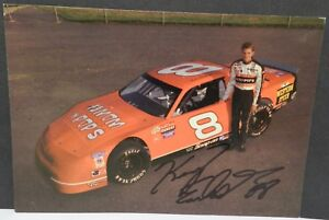 KERRY EARNHARDT LATE MODEL STOCK CAR CHEVY 8 POSTCARD AUTOGRAPHED RACING HANDOUT