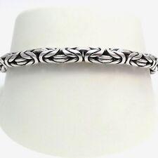 """Sterling Silver 5mm Turkish Rope Byzantine Toggle Bracelet Sz 7"""""""