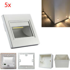 5Pcs Warm White LED Wall Corner Lights Plinth Recessed Stair Step Lamp with Box