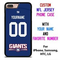 NEW YORK GIANTS JERSEY NFL Custom Phone Case Cover for iPhone Samsung Galaxy