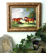 Ferneley Thoroughbred Mares at Pasture Horse Art Print Style Framed 11X13
