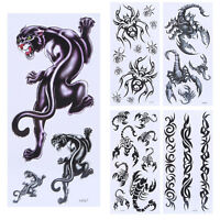 Waterproof Temporary Tattoo Stickers 3D Spider Scorpion Body Art Sticker New