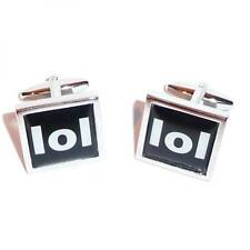 Text Speak LOL Mobile Phone Slang Words Cufflinks Present Gift Box