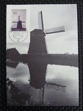 NIEDERLANDE MK 1963 WINDMÜHLE WINDMILL MAXIMUMKARTE MAXIMUM CARD MC CM 9736
