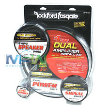 ROCKFORD FOSGATE® RFK4D 4-AWG GAUGE DUAL AMPLIFIER AMP INSTALLATION KIT RFK-4D