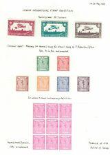 GB-1923 INTERNATIONAL STAMP EXHIBITION PUBLICITY LABELS & COLOUR TRIALS-AIRMAIL