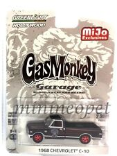 GREENLIGHT 51120 A GAS MONKEY GARAGE 1968 CHEVY C-10 PICK UP TRUCK 1/64 BLACK